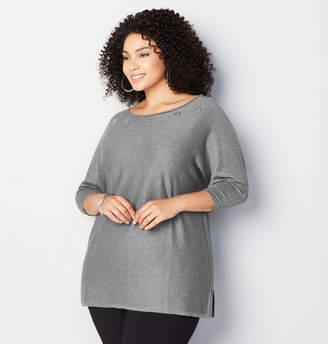 Avenue Dolman Grommet Sweater