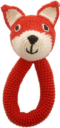 Anne Claire Crochet Fox Ring Rattle - Mandarin