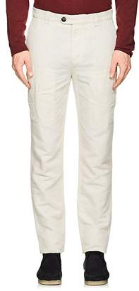 Brunello Cucinelli MEN'S LINEN-COTTON CLASSIC LEISURE TROUSERS