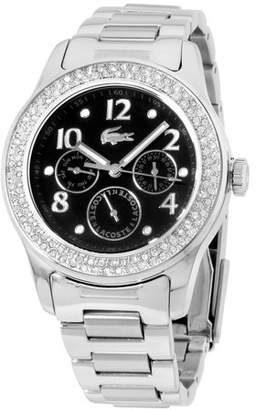 Lacoste Advantage Black Dial Stainless Steel Ladies Watch 2000691