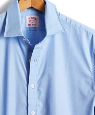 Hamilton Made in the USA + Todd Snyder End on End Dress Shirt in Blue
