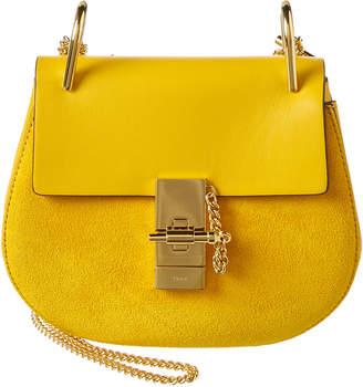 Chloé Drew Mini Leather & Suede Shoulder Bag