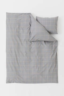H&M Checked Duvet Cover Set