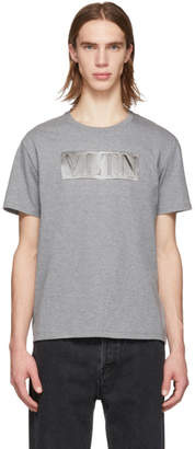 Valentino Grey and Silver VLTN T-Shirt