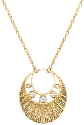 Celine Daoust Sun And Open Crescent Moon Necklace