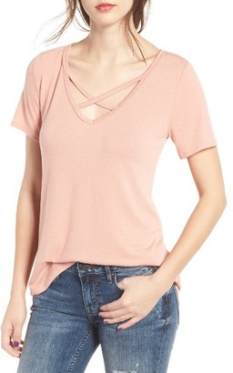 Women's Socialite Strap Front Tee $29 thestylecure.com
