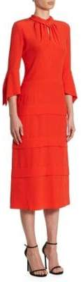 Victoria Beckham Tiered Silk Midi Dress