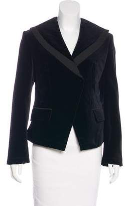 William Rast Long Sleeve Velvet Blazer