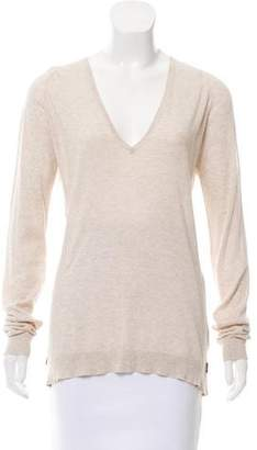 Zadig & Voltaire V-Neck Long Sleeve Top
