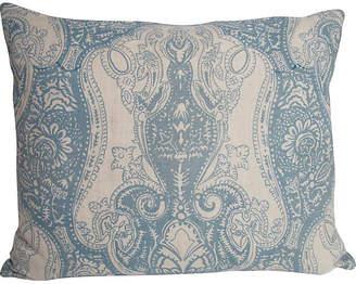 One Kings Lane Vintage English Printed Linen Pillow