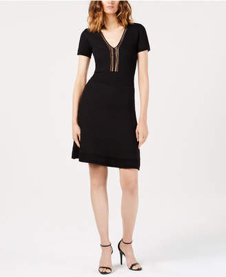 French Connection Ellie Illusion Fit & Flare Dress