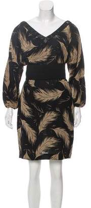 Marchesa Printed Silk Dress