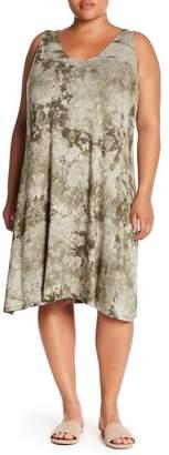 Como Vintage Tie Dye Crisscross Midi Dress (Plus Size)