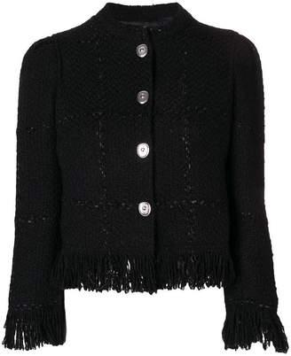 Sonia Rykiel button fringe jacket