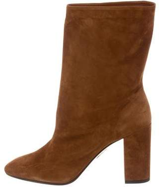 Aquazzura Boogie Leather Ankle Booties