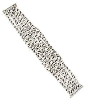 David Yurman Multistrand Graduated Curb Chain Bracelet