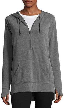 ST. JOHN'S BAY SJB ACTIVE Active Long Sleeve Knit Hoodie