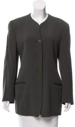 Giorgio Armani Virgin Wool Collarless Jacket