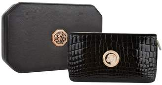 Stefano Ricci Jaguar Embossed Crocodile Leather Wallet