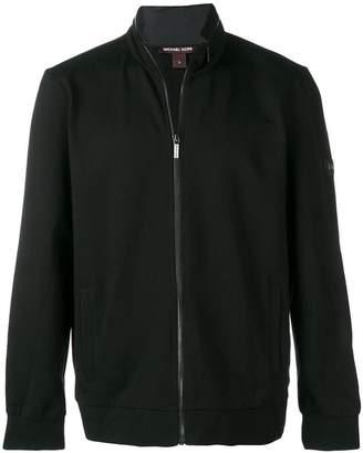 Michael Kors panelled biker jacket