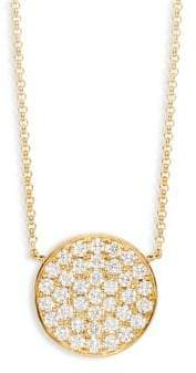 Effy Diamond 14K Yellow Gold Disc Pendant Necklace