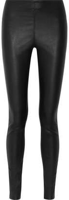 By Malene Birger Elenasoo Stretch-leather Leggings - Black