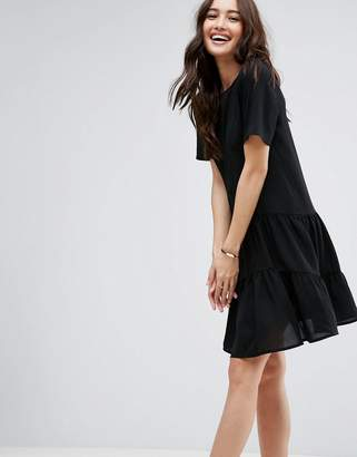 Asos Shift mini dress With Double Layer Pep Hem