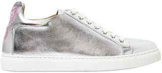 Sophia Webster 20mm Bibi Metallic Leather Sneakers