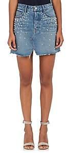 GRLFRND Women's Milla Embellished Denim Miniskirt - Lt. Blue