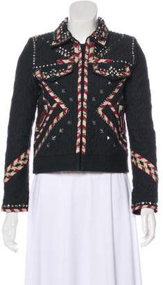 Isabel Marant Embellished Long Sleeve Jacket