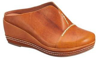 Antelope Stitched Leather Clog