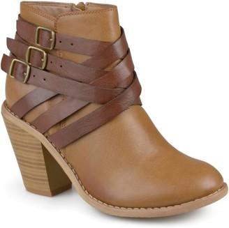 Co Brinley Women's Ankle Wide Width Multi Strap Boots