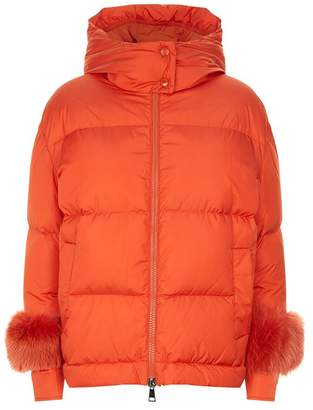 Moncler Effraie Fur Trim Down Jacket