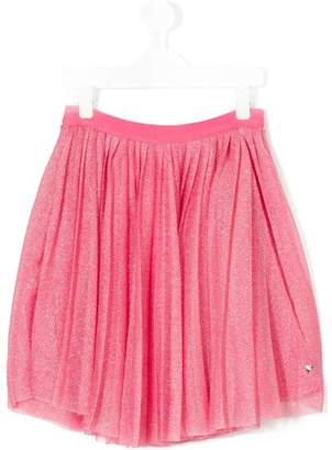 Emporio Armani Kids pleated metallic skirt