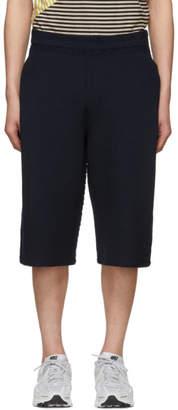 Issey Miyake Homme Plisse Navy Rustic Knit Shorts