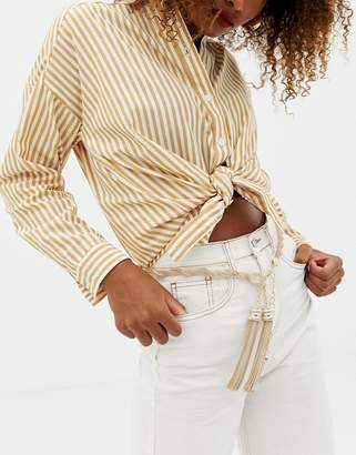 Asos DESIGN twisted chain and tassel belt