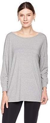Halina Athletics Quick-Dry Open Back Drop Shoulder Long Sleeve T-Shirt Workout Top