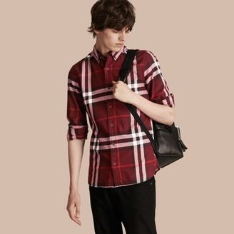 Burberry Check Cotton Flannel Shirt $350 thestylecure.com