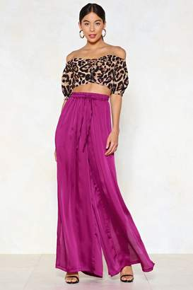 Nasty Gal Split It Out Wide-Leg Pants