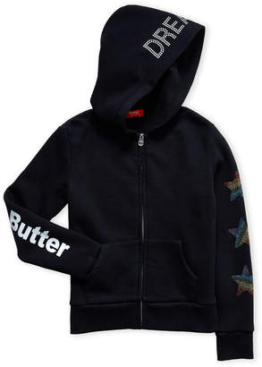 Butter Shoes Girls 7-16) Black Studded Unicorn Hoodie