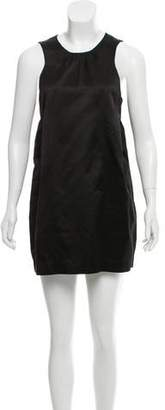 Miu Miu Sleeveless Silk Mini Dress