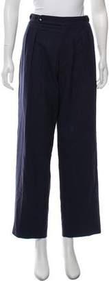 Etro Wool High-Rise Wide-Leg Pants