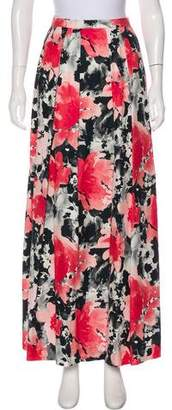 Carmen Marc Valvo Floral Maxi Skirt