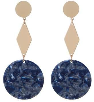 Ettika Resin Geo Dangle Earrings