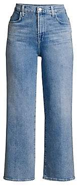J Brand Women's Joan High-Rise Crop Medium Wash Jeans
