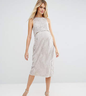 Asos Double Layer Lace Column Dress
