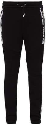 Balmain Logo Trim Track Pants - Mens - Black