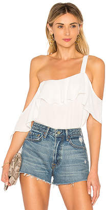 Krisa Off Shoulder Drop Ruffle Tank Top
