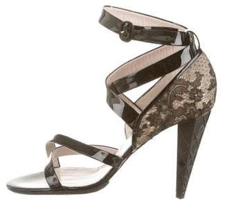 Viktor & Rolf Lace-Accented Crossover Sandals w/ Tags