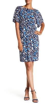 Leota Tiffany Printed Dolman Sleeve Dress